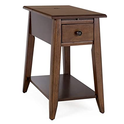 Amazoncom Palos Home Chairside End Table With Usb And Power Outlet