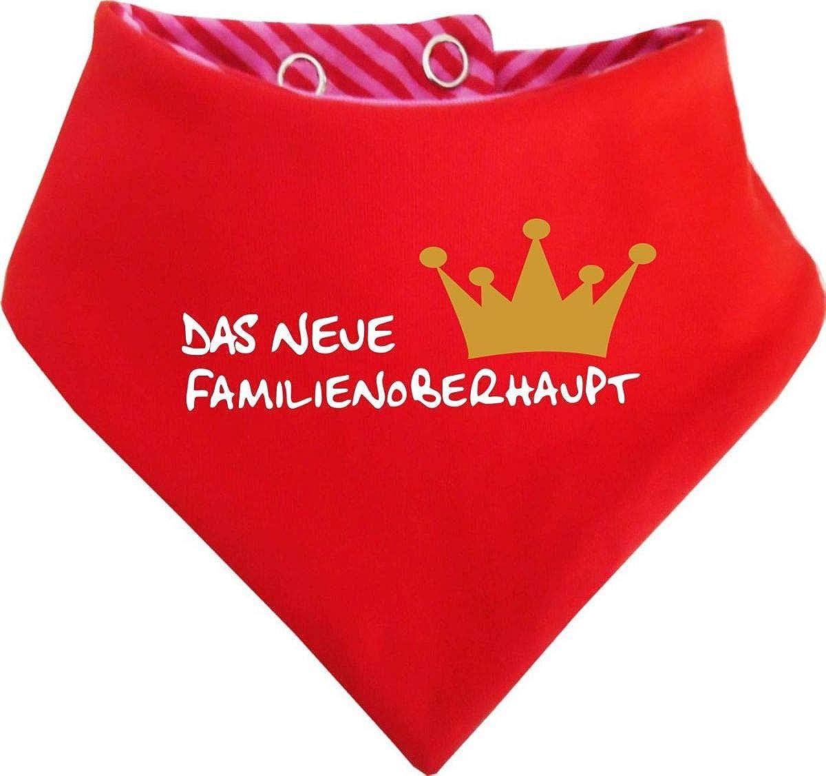 Halstuch Neues Familienoberhaupt//in 7 Designs//Gr/ö/ßen 0-36 Monate und Kinder Wende KLEINER FRATZ mitwachsendes Baby