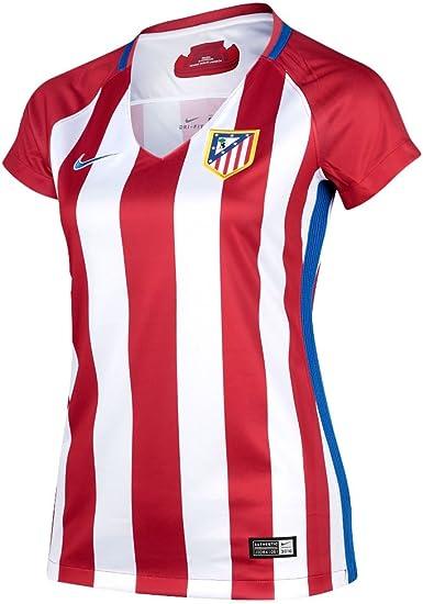 NIKE Atlético de Madrid W Nk Dry Stad JSY SS Hm Camiseta de Manga Corta, Mujer, Rojo (Varsity Red/White/Hyper Cobalt), L: Amazon.es: Ropa y accesorios