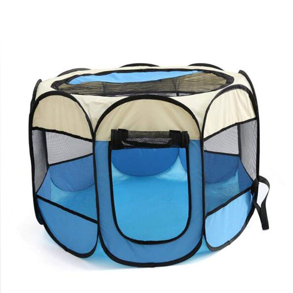 bluee Medium bluee Medium Pet Bed Pet Fence Portable Foldable Large Indoor Outdoor Cage. The Best Sports Kennel for Your Dog, Cat, Rabbit, Puppy, Hamster Or Guinea Pig. Available in 2 Sizes,Pink,S