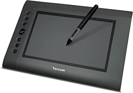 Amazon Com Turcom Ts 6610 Graphic Tablet Drawing Tablets And Pen Stylus For Pc Mac Computer 10 X 6 25 Inches Surface Area 2048 Levels Of Pressure Sensitive Surface With 8 Hot Keys 5080 Lpi Resolution