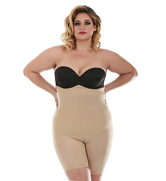 8ee74122fe4 Plus Size Shapewear waist trimming shorts with open gusset