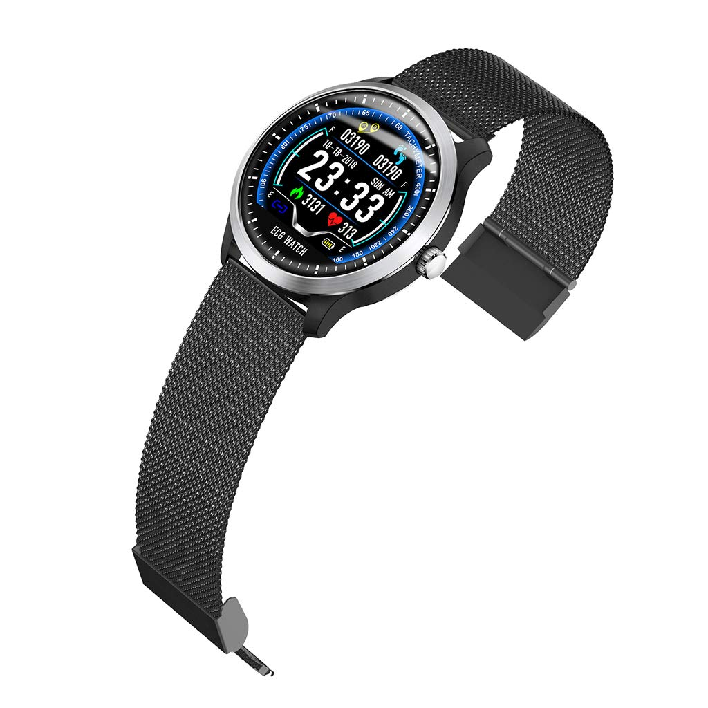 Health Monitoring Smart Bracelet, Heart Rate ECG Sleep Tracking Watch - Sports Data Recording Smart Bracelet