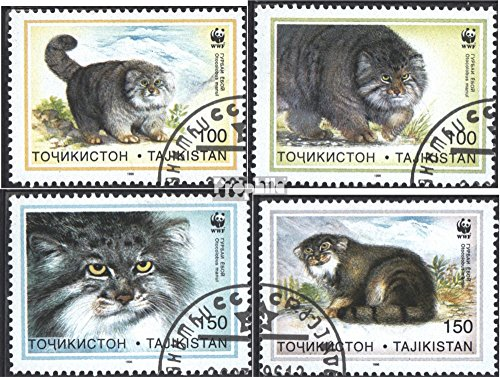 Tajikistan 94-97 (Complete.Issue.) 1996 Conservation: Manul (Stamps for Collectors) Cats