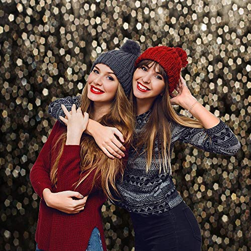 Allenjoy 7x5ft Gold Bokeh Spots Backdrop for Selfie Birthday Party Pictures Photo Booth Shoot Graduation Prom Dance Decor Wedding Vintage Astract Glitter Dot Studio Props Photography Background by Allenjoy (Image #4)