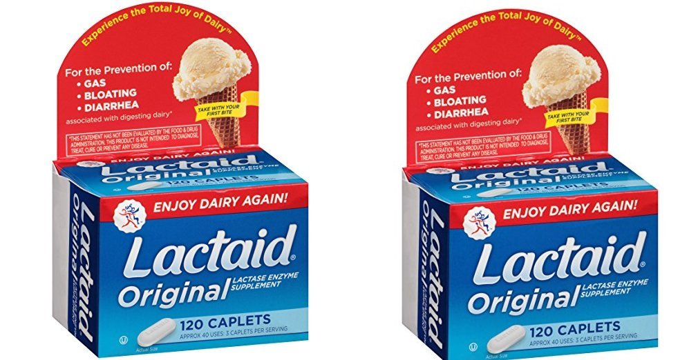 Lactaid, Originals, 120 ZhrUck Count (Pack of 2) by Lactaid