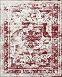 Traditional Persian Vintage Design Rug Burgundy Rug 8' x 10' FT (305cm x 244cm) Sofia Area Rug Inspired Overdyed Distressed Fancy