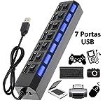Hub USB 7 Portas 2.0 com Interruptor HB-T57 KNUP