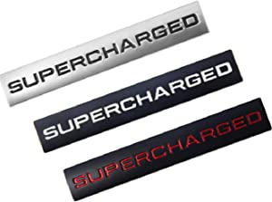 3D Metal SUPERCHARGED c Trunk Lid Dash Sticker Fender Badge Fit For Range Rover (ce-028)