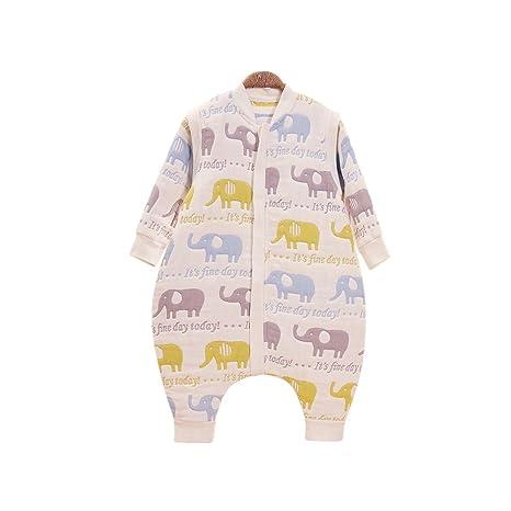 Hada bebé muselina de 6 capas saco de dormir dormir manga larga (con pies,