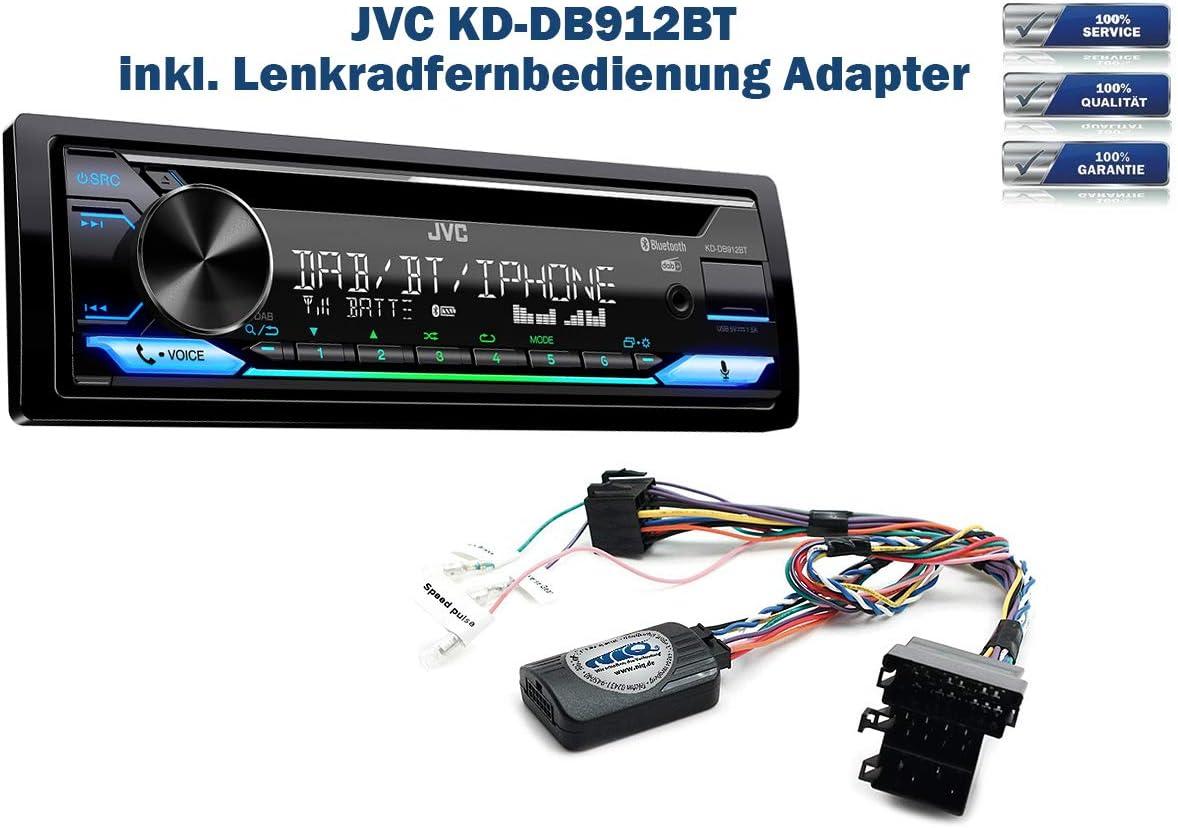 Lenkrad Fernbedienung Adapter Vito inkl C-Klasse DAB+ Autoradio JVC KD-DB912BT Viano B-Klasse geeignet f/ür Mercedes A-Klasse