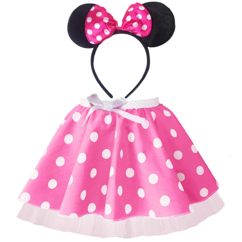 Mouse Red White Polka Dot Tutu Kids Adults All Sizes Fancy Dress Fun Run Party