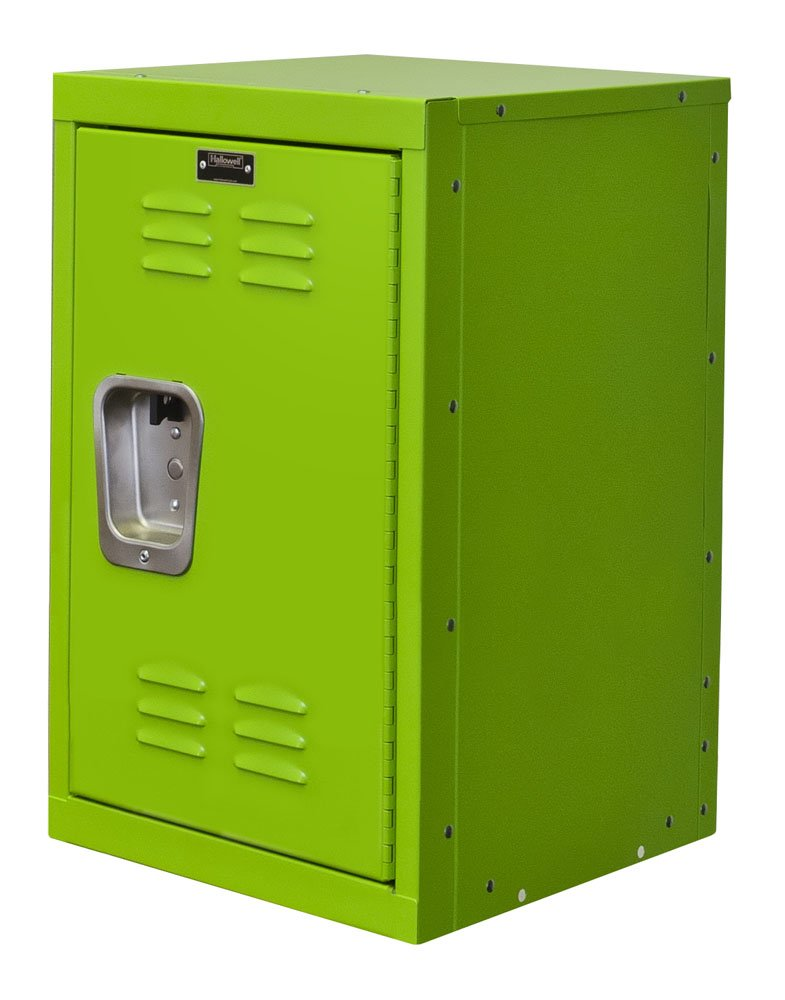 "Hallowell HKL151524-1SA Kid Mini Locker, 15"" Width x 15"" Depth x 24"" Height, Single Tier, 1-Wide, Knock-Down, 1134 Sour Apple"