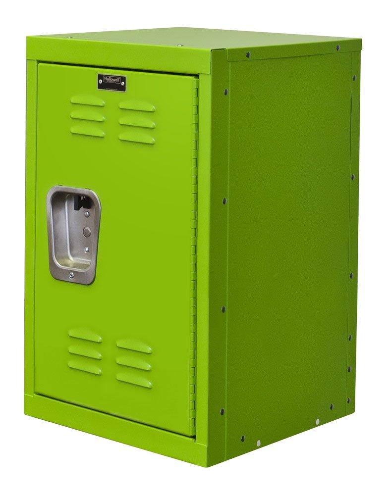 Hallowell HKL151524-1SA Kid Mini Locker, 15'' Width x 15'' Depth x 24'' Height, Single Tier, 1-Wide, Knock-Down, 1134 Sour Apple