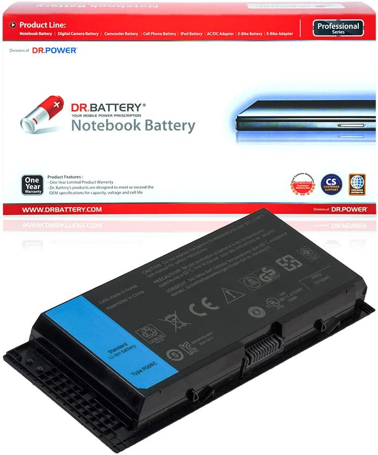 DR. BATTERY FV993 PG6RC Battery Replacement for Dell Precision M6700 M6600 M4600 M4700 M6800 M4800 FJJ4W KJ321 R7PND 9GP08 72KRT 0FVWT4 0TN1K5 312-1177 331-1465 [11.1V/6600mAh/73Wh]