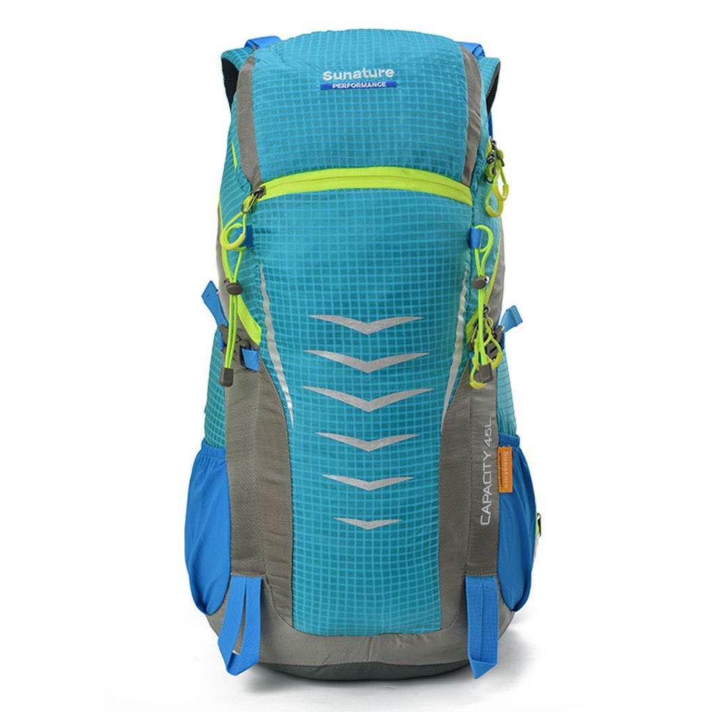 登山バックパック大容量防水超軽量通気性バックパックアウトドア旅行キャンプロッククライミングライディングバッグユニセックスバッグ  blue B07QSJHQK4