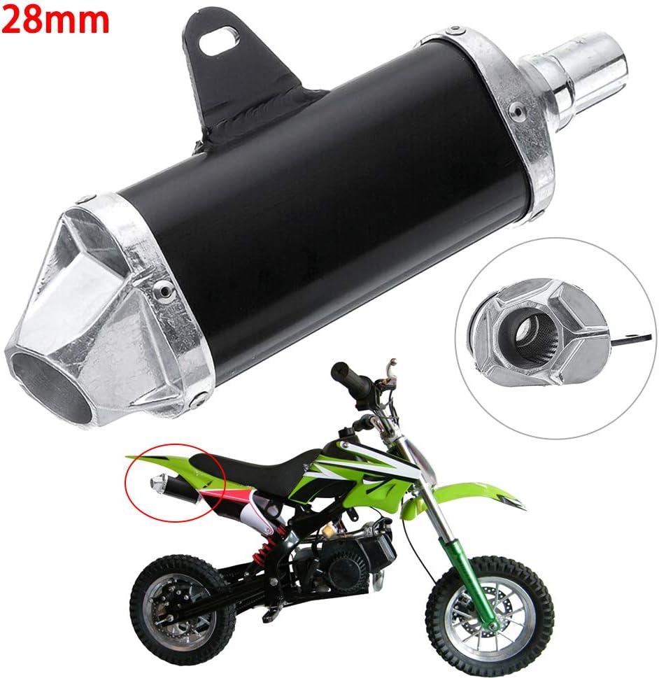Fuvoya 28 Mm Auspuff Aluminiumlegierung Endschalldämpfer Für Motorrad Dirt Bike Atv Quad 50cc 150cc Auto