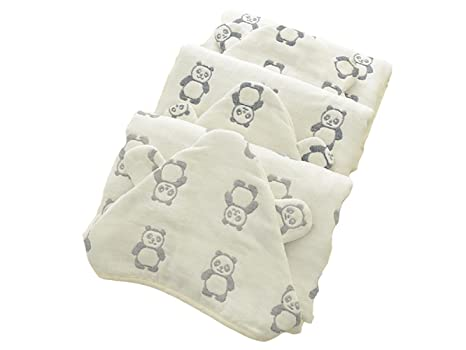kxrzu Gracioso Baby Cartoon Panda Gasa Toalla de baño con albornoz Cute Animal Cloak para niños