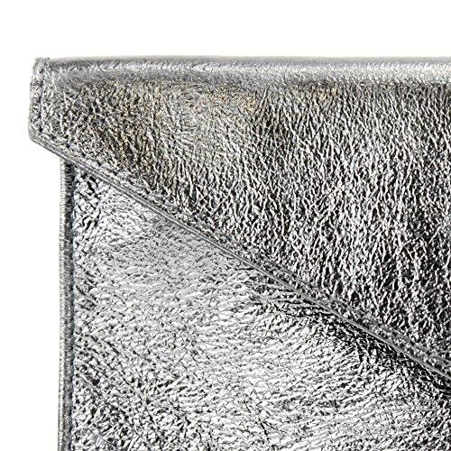 lila Präzise Hombro De M106 Silbergrau Farbe Bajo Cuero T106 Metallic Muñeca Esposas Farbe Brazo nur Bolso Noche Embragues El Zq1wawP8