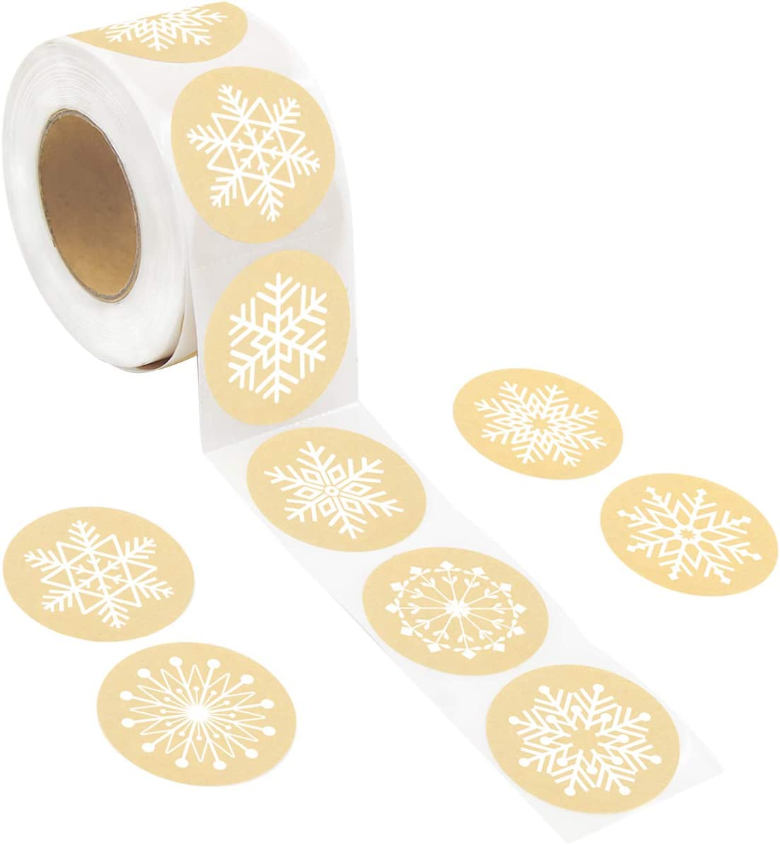 Snowflakes Christmas Stickers 8 Designs 500Pcs for Office School Holiday Party Supplies