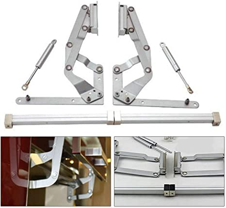 Amazon Com Eapmic Hydraulic Support Cabinet Hinge Set Vertical Swing Arm Hinge Kitchen Cabinet Door Lift Up Hydraulic Gas Spring Flap Stay Support Strut Hinge Home Kitchen