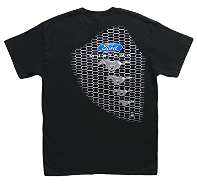 708f2e14a Amazon.com: Hot Shirts Mustang/Grille Ford Mustang GT 2005-2017 5.0 Shelby  Roush Saleen Black T-Shirt:: Clothing
