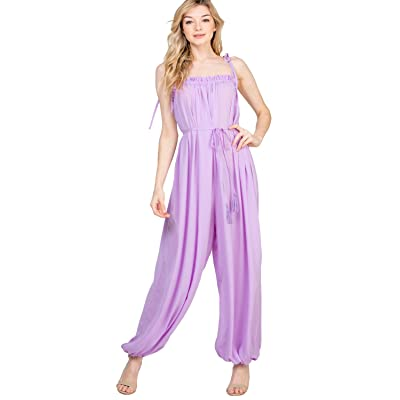 A.Peach Women's Solid Spice It up Jumpsuit: Clothing