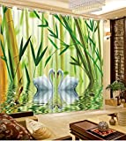Sproud 3D Printing Curtains Lifelike Room Blackout Cortians Beautiful Full Light Shading Bedroom Curtains 240Dropx380Wide(Cm) 2 pieces