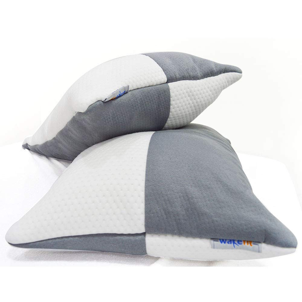 """For 649/-(50% Off) Wakefit Sleeping Pillow (Set of 2) - 27"""" x 16"""" at Amazon India"""