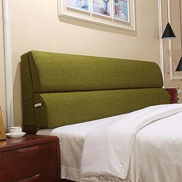 Amazon.com: YIHANGG - Cojín de cama, respaldo grande, tela ...