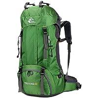 WEDFGX 60L Outdoor Rucksack Regenschutz Camping Tasche Regenschutz Wasserdicht Bergsteigen Wanderrucksack Sporttasche Wanderrucksack