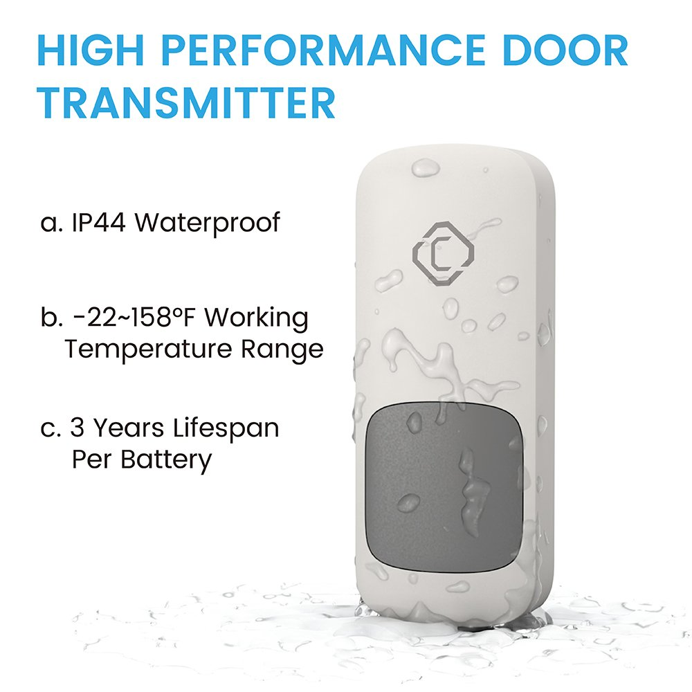Wireless Doorbell With 2 Receivers Cambond Door Chime 1000ft Range Circuit Diagram As Well Ring Box Contents On Wiring 1 Battery Operated Waterproof Push Button 52 Melodies 4 Volume Levels Bell