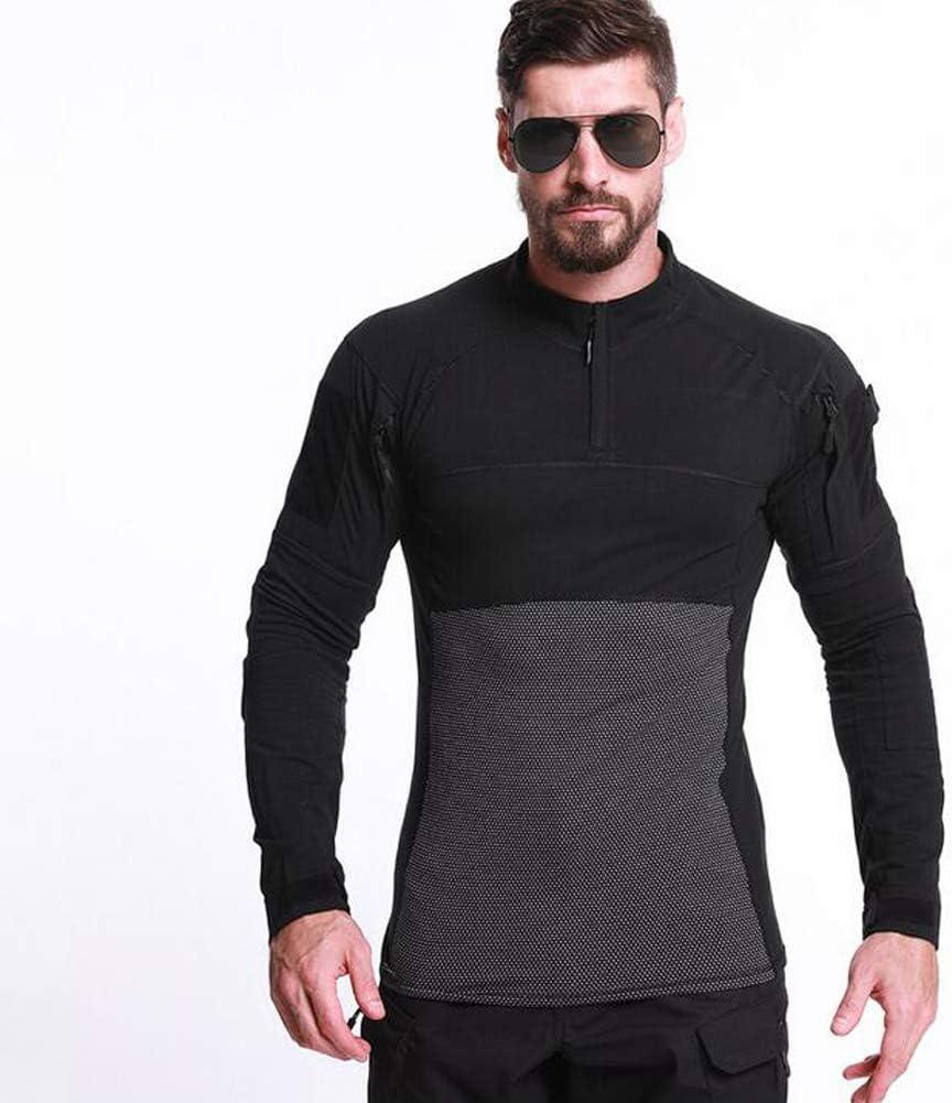 Specter Hombres Airsoft Militar Táctico Camisa Manga Larga Camuflaje Camisetas Material de algodón Ligero y Transpirable (Talla S-XXXXXL): Amazon.es: Deportes y aire libre