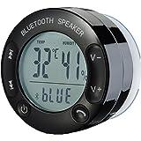 Patuoxun Portabile Impermeabile Bluetooth V3.0 + EDR Senza Fili Speaker Doccia a Mani Libere con 3w Potente Ventosa Schermo LCD Microfono