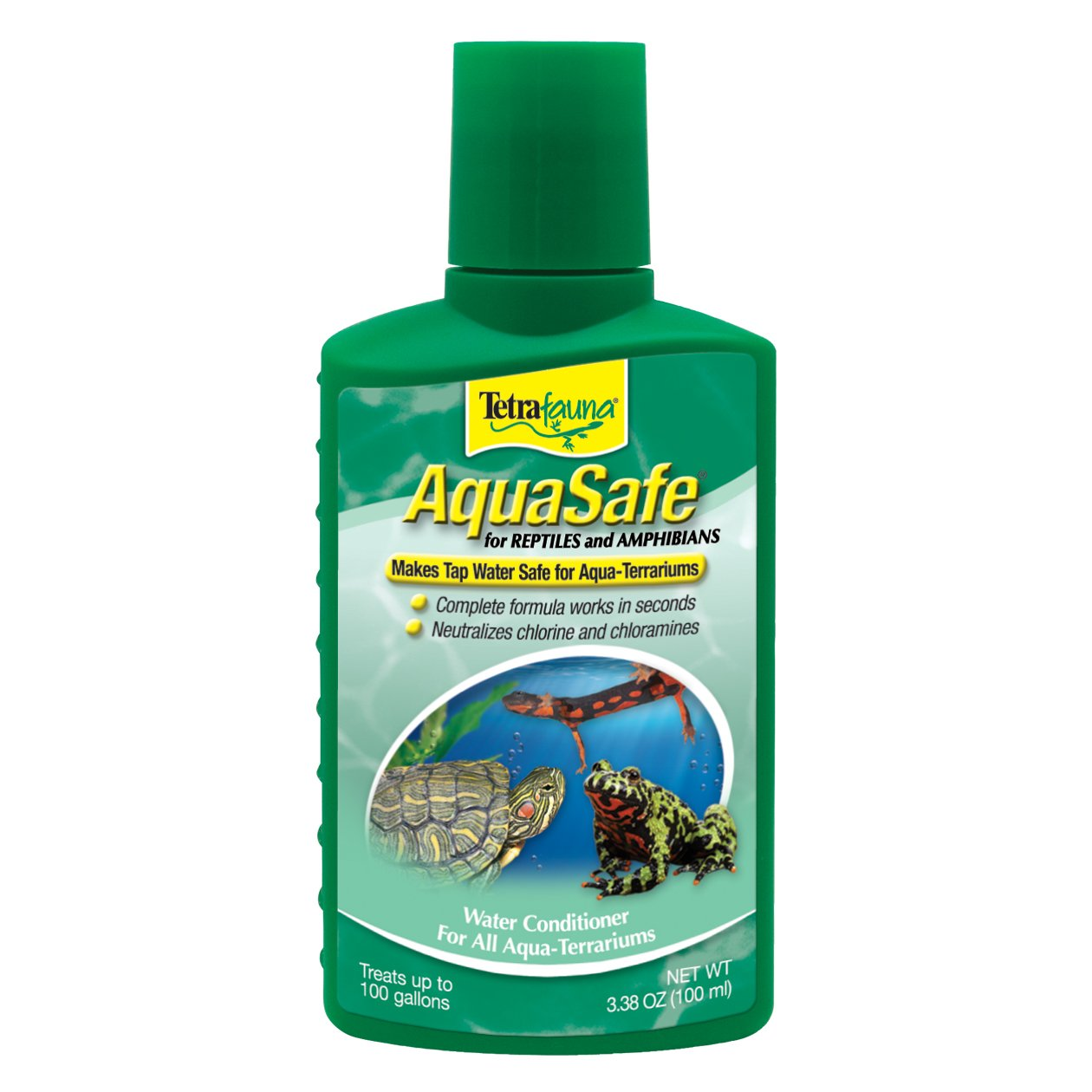 TetraFauna AquaSafe Water Conditioner for Reptiles & Amphibians 3.38oz (75077009)