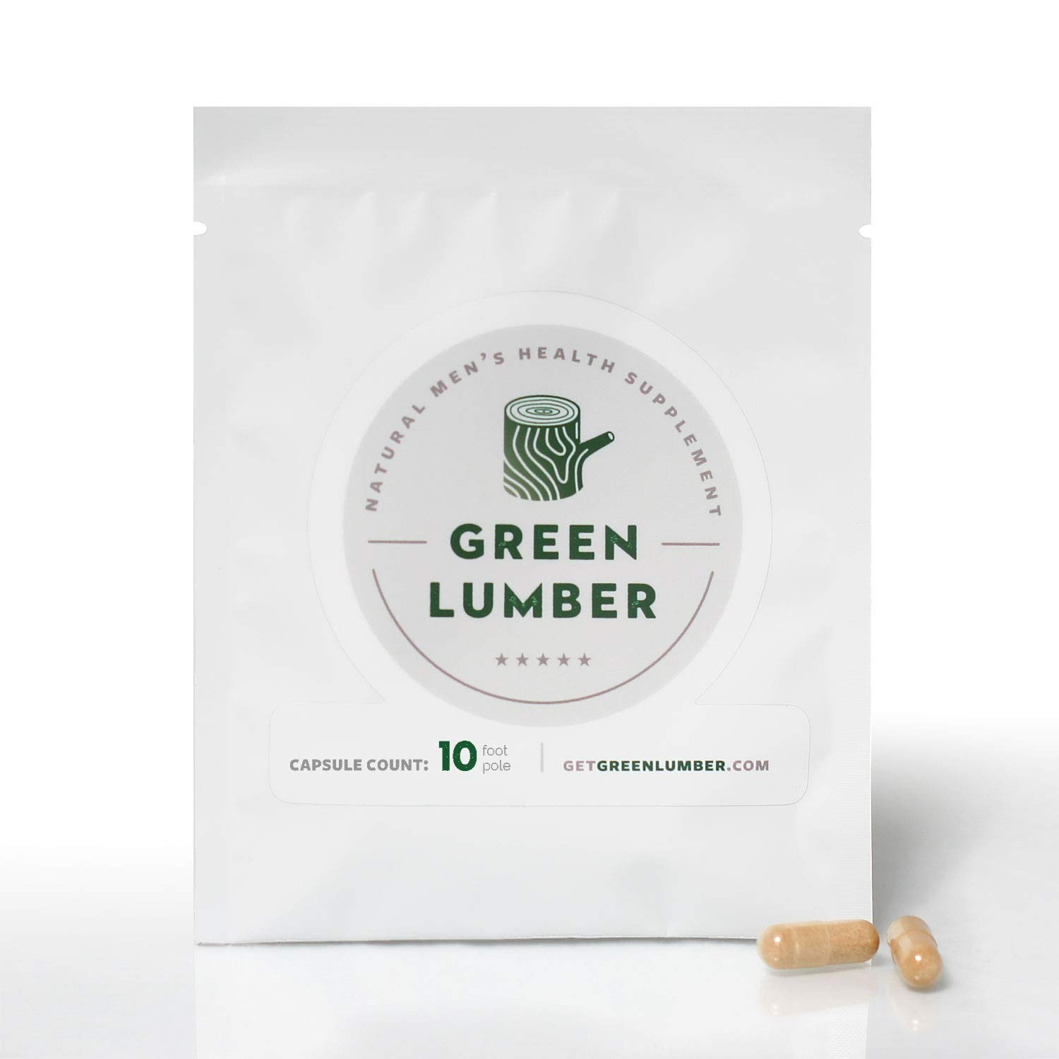 Green Lumber [10 Pack] Supply - All Natural Testosterone Booster Made with Pure Eurycoma Longifolia by GREEN LUMBER