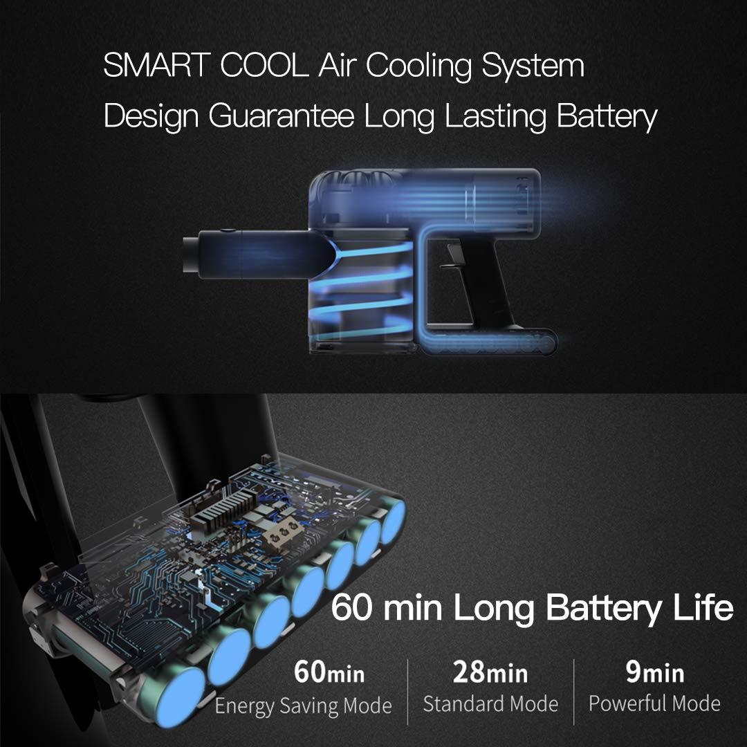 Scopa Elettrica Senza Sacco Dreame Xiaomi V9 Pro Aspirapolvere senza fili 20,000Pa Potente, Batteria rimovibile, autonomia fino a 60 minuti, rumore basso Scopa Ricaricabile 4 in 1 Freedom