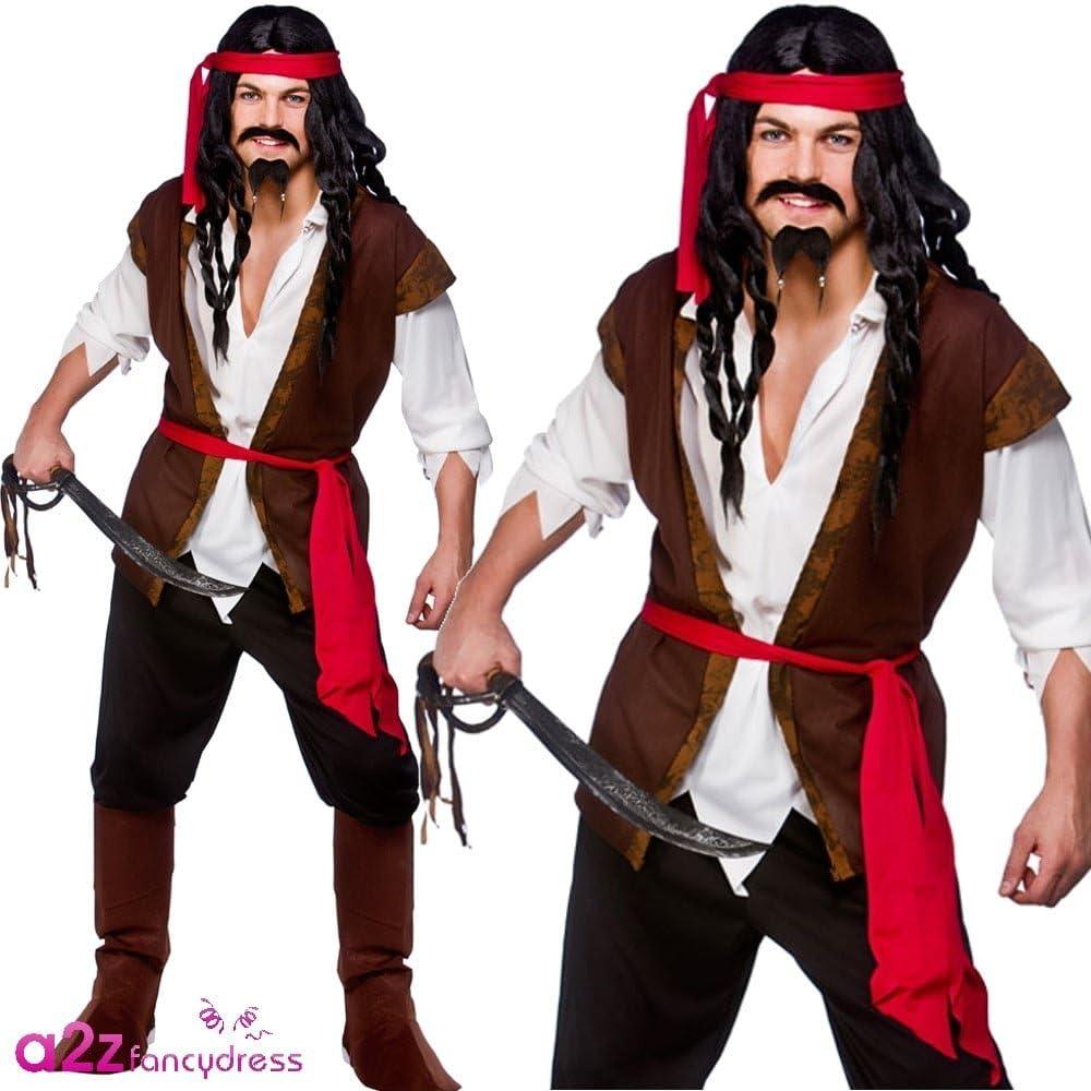 Bootcovers Pirata Da Uomo Costume Caraibi Costume Buccaneer Adulti Accessorio