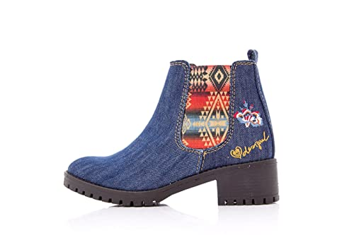 reputable site 27f42 174ab DESIGUAL STIVALETTI DONNA SHOES CHARLY DENIM 17WSAFC5 41 ...