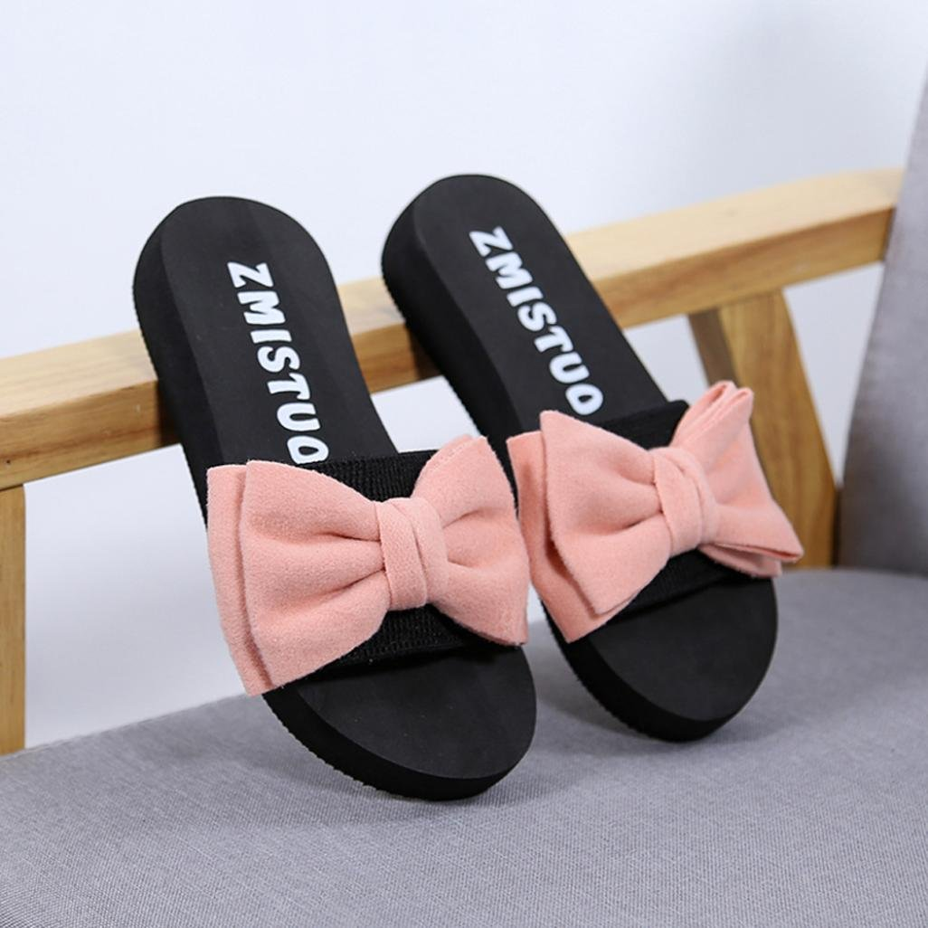 DEELIN Damen Schuhe Damen Bow Sommer Sandalen Slipper Indoor Outdoor Flip-Flops Strand Schuhe