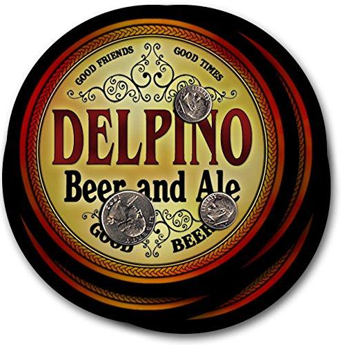 Delpinoビール& Ale – 4パックドリンクコースター   B003QXIUQE