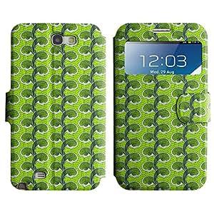 LEOCASE Olas Verdes Funda Carcasa Cuero Tapa Case Para Samsung Galaxy Note 2 N7100 No.1000843