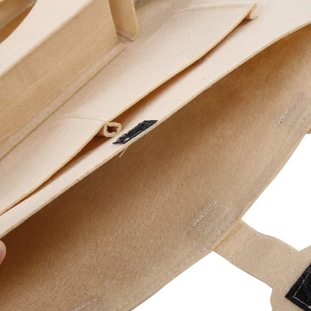 Car Rear Seat Organizer Universal Multi-pockets Car Rear Seat Storage Bag Organizer Holder Beige