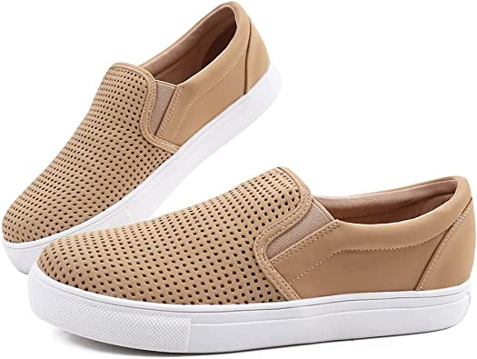 Fashion Sneakers Perforated Slip on