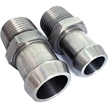"New  Degree 90 Heater Hose Fitting 1//2/"" NPT to 5//8/"" Barb Stainless Steel 1037"