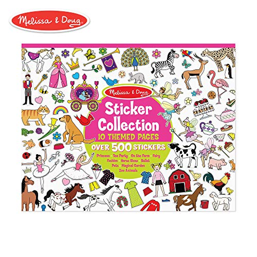 Melissa & Doug Sticker Collection Book; Arts & Crafts; Princesses
