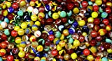 1000 marbles - 1000 Count Bulk Assorted Premium PeeWee Glass Mega Marbles