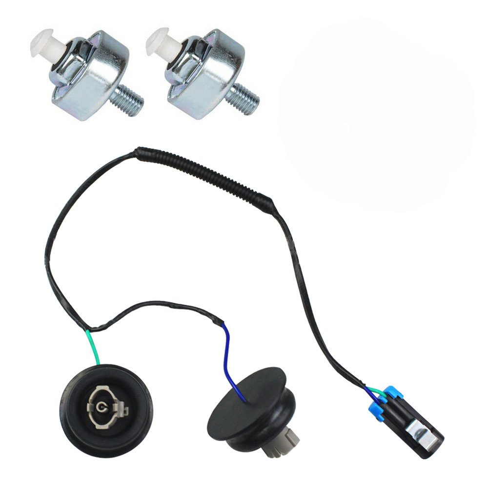 Knock Sensor with Harness Pair Kit Set OE:10456603,12589867 Fits Chevy GMC Silverado Sierra Cadillac