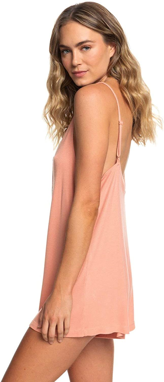 Roxy Womens Chill Love Ribbed Button-Front Romper for Women Arjx603113