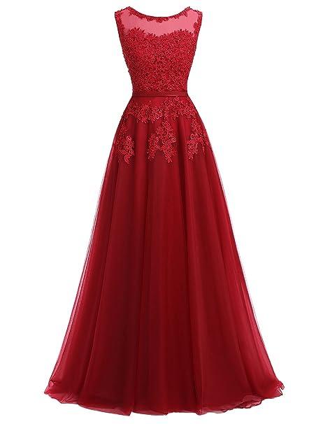 Ever Love® - Vestido de novia rojo oscuro 34